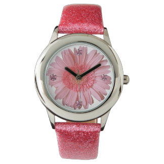 Pretty Pink Gerber Daisy Watch