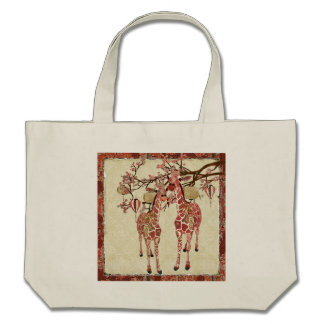 Pretty Pink Giraffes Cherry Blossom Bag