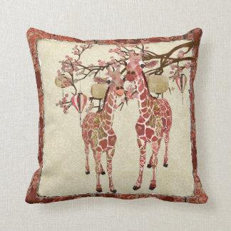 Pretty Pink Giraffes Mojo Pillow