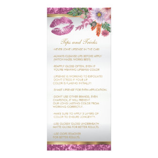 Pretty Pink Glitter Lip Instructions 2 Rack Card