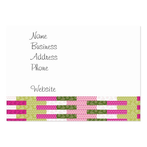 pretty pink green patchwork quilt design gifts pack of chubby business cards zazzle. Black Bedroom Furniture Sets. Home Design Ideas