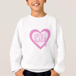 Pretty Pink Heart Customisable Sweatshirt