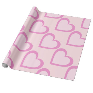 Pretty Pink Heart Wrapping Paper
