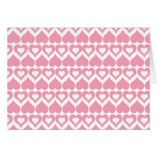 Pretty Pink Hearts Cards, Stickers, Envelopes Note Card