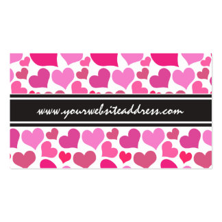 Pretty Pink Hearts for Bachelorette or Bride Pack Of Standard Business Cards