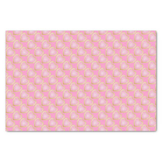 """Pretty Pink Hearts with Gold Trim 10"""" X 15"""" Tissue Paper"""