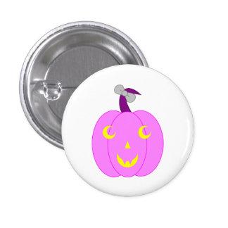 Pretty Pink Jack-o -Lantern Button