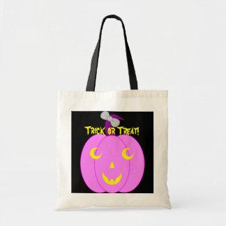 Pretty Pink Jack-o'-Lantern Budget Tote Bag