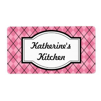 Pretty Pink Kitchen Labels