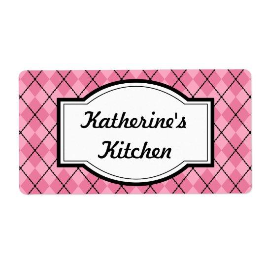 Pretty Pink Kitchen Labels