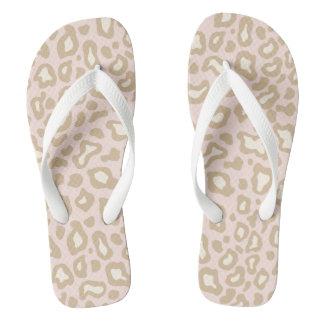 Pretty Pink Leopard Flip Flops