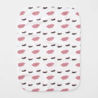 Pretty Pink Lip's Burp Cloth