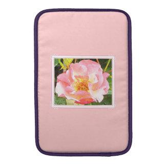 Pretty Pink Mac Book Air Sleeve. Pink Rose Design. Sleeve For MacBook Air