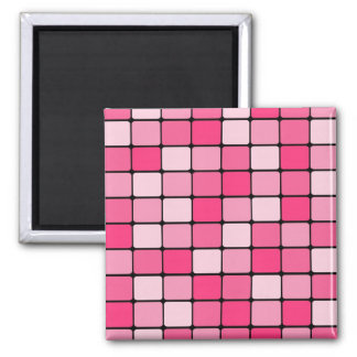 Pretty Pink Mosaic Tile Pattern Gifts for Her Square Magnet