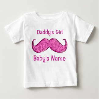 Pretty Pink Mustache Baby Gifts for Girls Baby T-Shirt