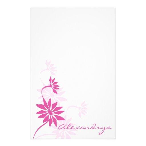 Pretty Pink Notepad Stationery Design
