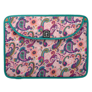 Pretty Pink Paisley Pattern Sleeve For MacBook Pro