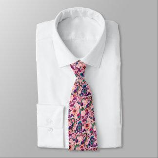Pretty Pink Paisley Pattern Tie