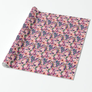 Pretty Pink Paisley Pattern Wrapping Paper