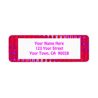 pretty pink pattern return address label