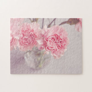 Pretty Pink Peonies in Glass Vase Jigsaw Puzzle