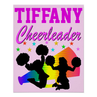 PRETTY PINK PERSONALIZED CHEERLEADER POSTER