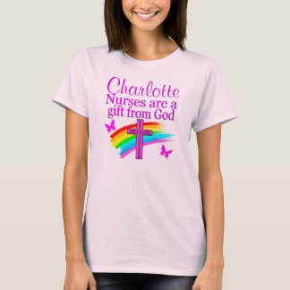 PRETTY PINK PERSONALIZED NURSING APPAREL T-Shirt