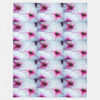 Pretty Pink Petunias Fleece Blanket