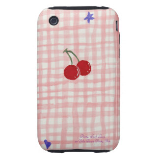 Pretty Pink Pinup Cherries Iphone Case / Cover