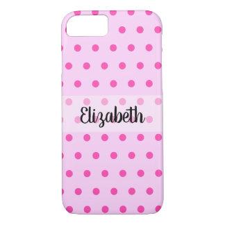Pretty Pink Polka Dot Custom iPhone 8/7 Case