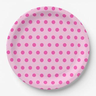 Pretty Pink Polka Dot Party Paper Plate
