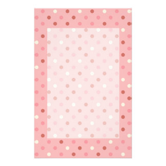 Pretty Pink Polka Dots Personalized Stationery