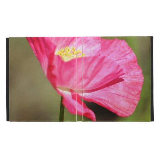 Pretty Pink Poppy iPad Folio Cases