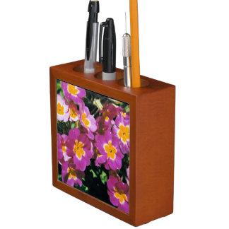 Pretty Pink Primrose Floral Desk Organizer