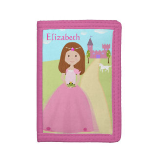 Pretty Pink Princess Tri-fold Wallet