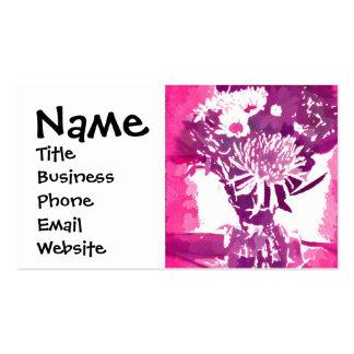 Pretty Pink Purple Girly Flower Pop Art Business Card Templates