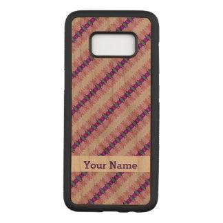Pretty Pink Purple Pattern Design Carved Samsung Galaxy S8 Case