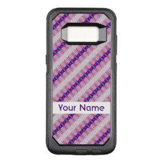 Pretty Pink Purple Pattern Design OtterBox Commuter Samsung Galaxy S8 Case