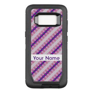 Pretty Pink Purple Pattern Design OtterBox Defender Samsung Galaxy S8 Case