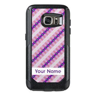 Pretty Pink Purple Pattern Design OtterBox Samsung Galaxy S7 Case