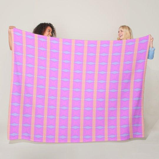 Pretty Pink & Purple Unicorn Princess Plush Fleece Blanket