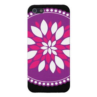 Pretty Pink Purple White Flower Petals Mandala iPhone 5/5S Cases