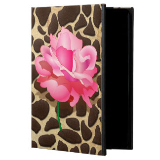 Pretty Pink Rose Brown & Gold Animal Print