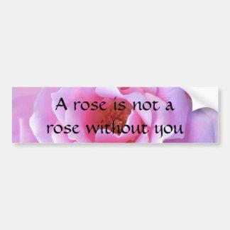 Pretty Pink Rose Bumper Sticker