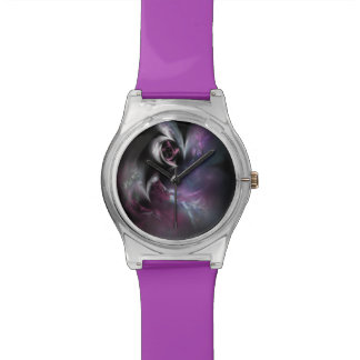 Pretty Pink Rose Fractal Watch