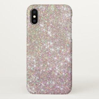 Pretty Pink Rose Gold Sparkles Glitter iPhone X Case