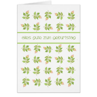 Pretty Pink Rosebuds German Greeting Birthday Card