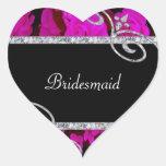 Pretty Pink Roses & Diamond Swirls Wedding Sticker