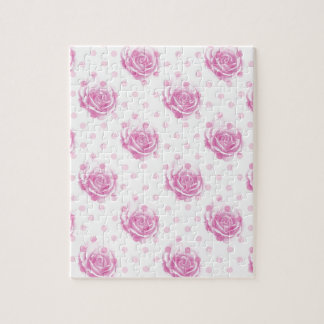 Pretty pink roses pattern puzzle