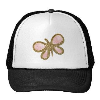 Pretty Pink Shiny Butterfly Trucker Hats